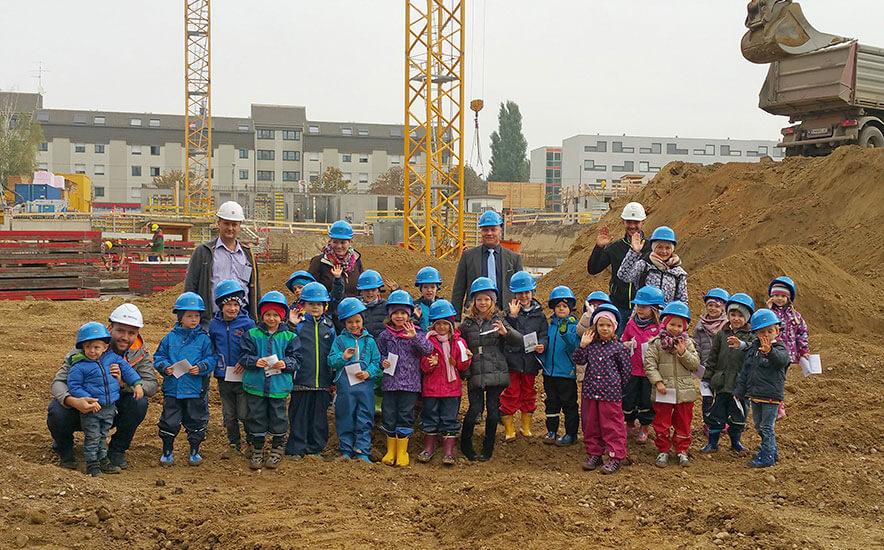 QUARTIER 11 – Kindergarten erlebt Baustelle