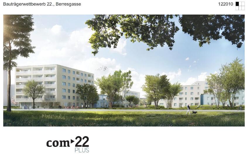 """Kallco gewinnt Bauträgerwettbewerb """"22., Berresgasse – BAG 10"""""""